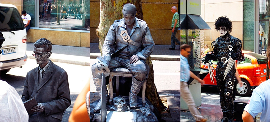 Travel Guide: Street Performers of Las Ramblas, Barcelona