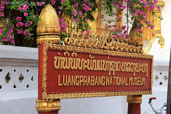 An exquisite sign post in Luang Prabang, Laos