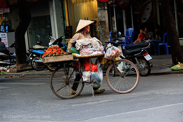 Vietnamese vendor in Hanoi