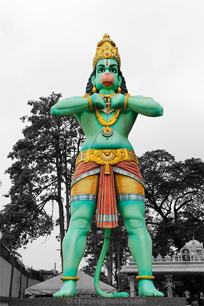 The statue of the Monkey God Hanuman at the Batu Caves, Kuala Lumpur