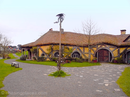 A view of the Hobbiton Movie Set