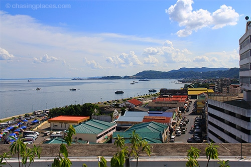Rooftop view of Sandakan in Sabah, one of Air Asia's domestic destinations