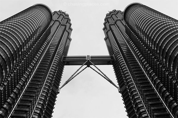 A view of the Petronas Towers during the day