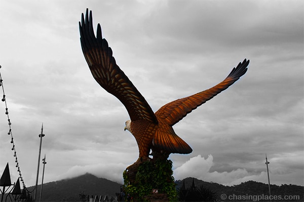 The giant Eagle at Kuah's Eagle Square