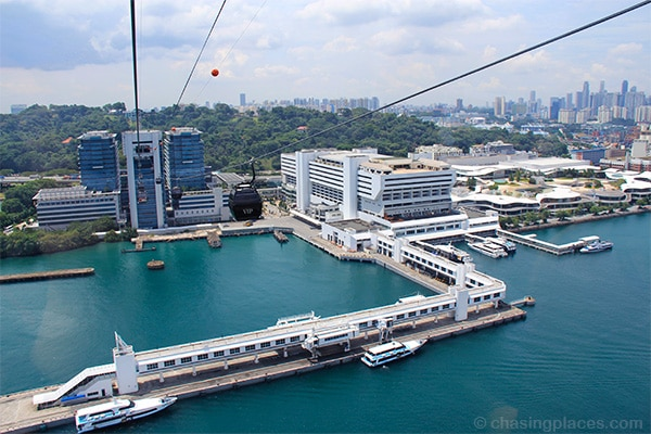 Singapore Cable Car-a great option to get to Sentosa Island from Singapore-City
