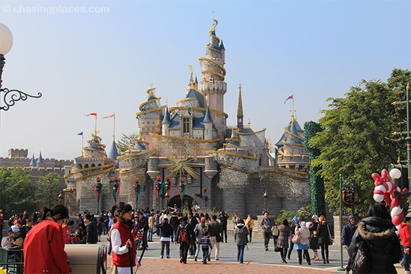 The Sleeping Beauty Castle of Hong Kong Disneyland