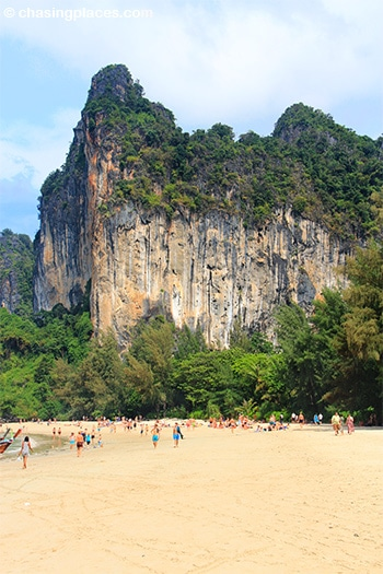 It's hard not to like the scenery around West Railay Beach