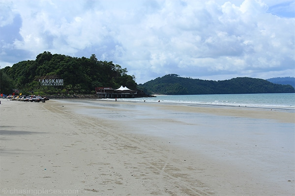 Pantai Cenang is super wide at low tide