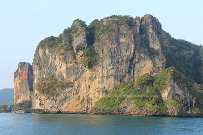 A stunning limestone wall moments away from Ao Nang