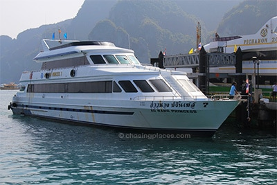 Ferry at Koh Phi Phi pier