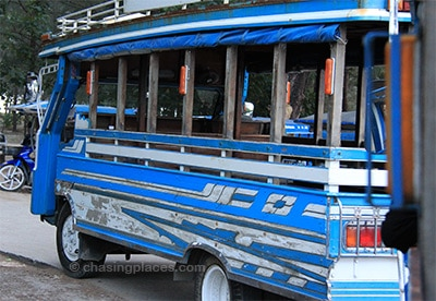 The shuttle from the pier to the different guest houses and hotels in Ao Nang