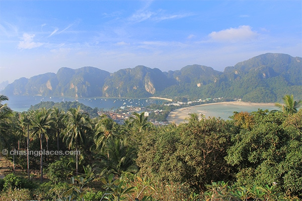The view of the famous isthmus from Phi Phi Viewpoint
