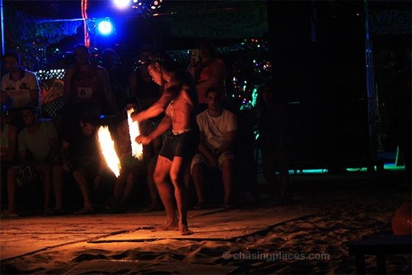 Fire performer on Koh Phi Phi Don