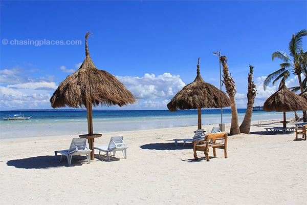 The beach view from Placid Beach Resort, Alice-Beach, Bantayan Island