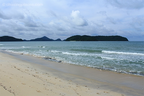 The view of some of the outlying islands from Pantai Tengah