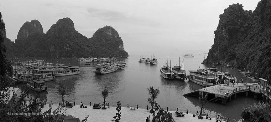 The view of Halong Bay from Dau Go Cave