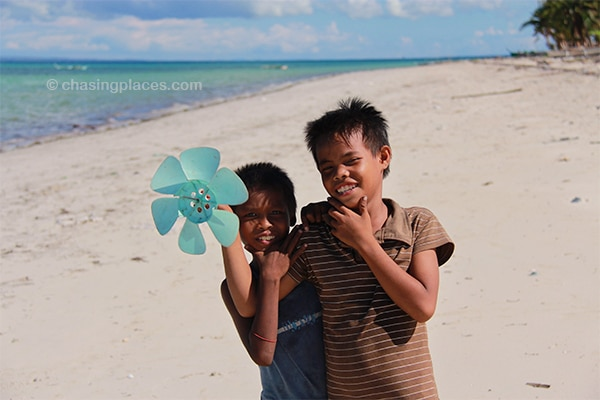 Young fishermen on Alice Beach