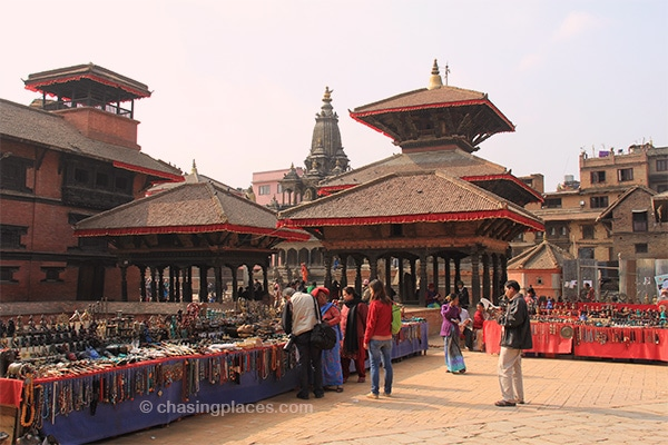 Meters from Patan's-Durbur Square