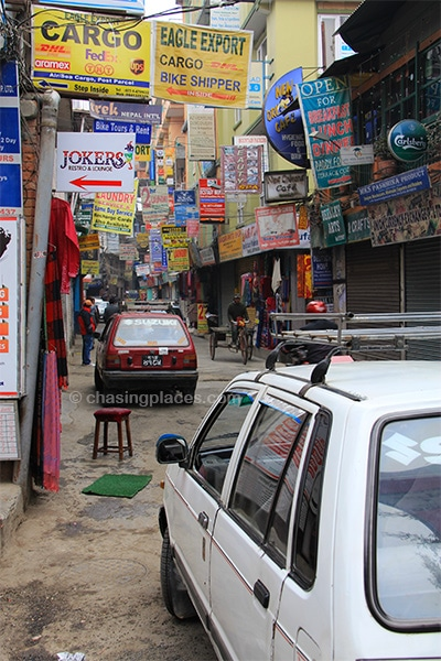 The Thamel tourist district has no shortage of shops to explore