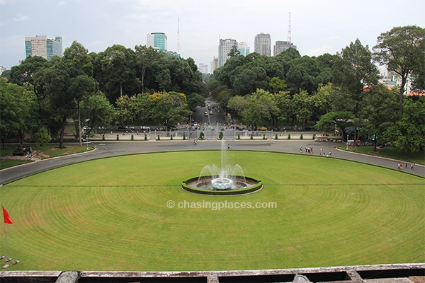The view from Reunification Palace, Ho Chi Minh