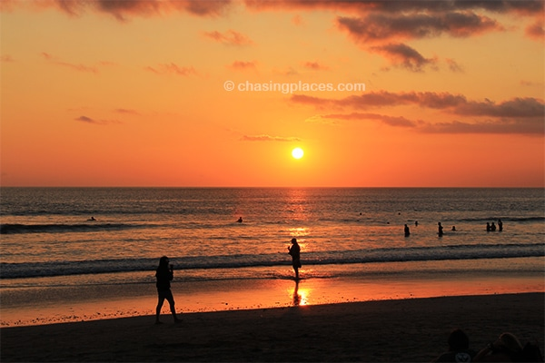 Be sure to pack a pair of shades for Kuta's stunning sunsets