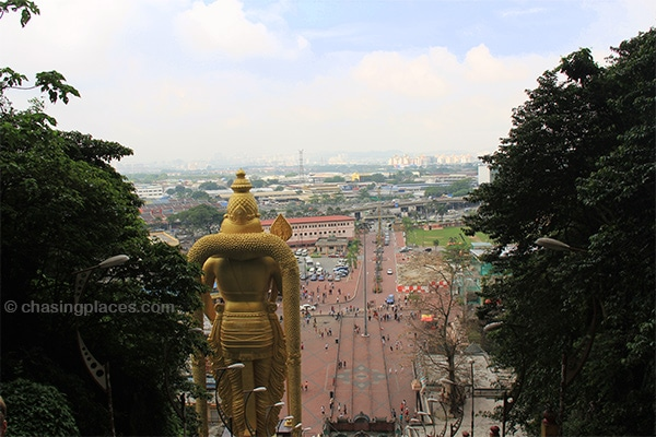 The panoramic view from Batu Caves