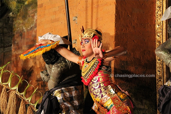Traditional dance at Ubud Palace's Cultural Show