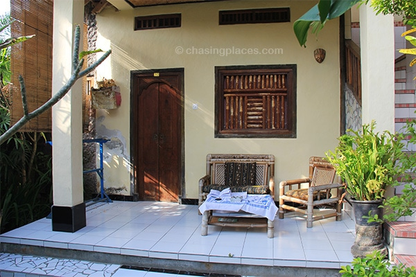 Many of the guesthouses in Ubud are surrounded by green lungs