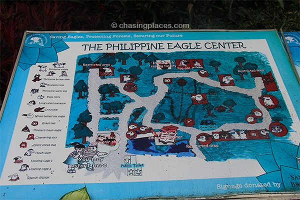 Oneof the aged maps of the Philippine Eagle Center