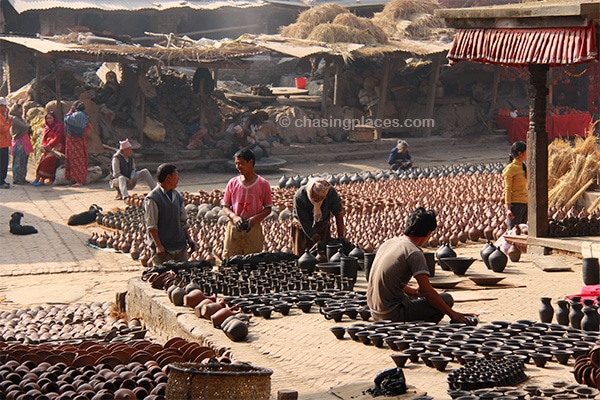 Pottery Square in ancient Bhaktapur