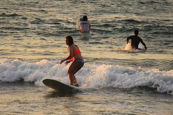 San Juan Beach in the Philippines is ideal for beginner surfers