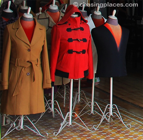 A wide array of coats can be custom made in Hoi An
