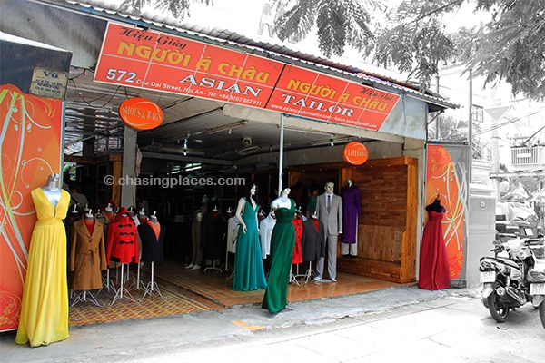 An ideal spot to get fitted for a custom made suit or dress