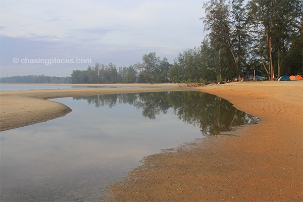 Reflections.--Cherating-Beach- at low tide early in the morning.