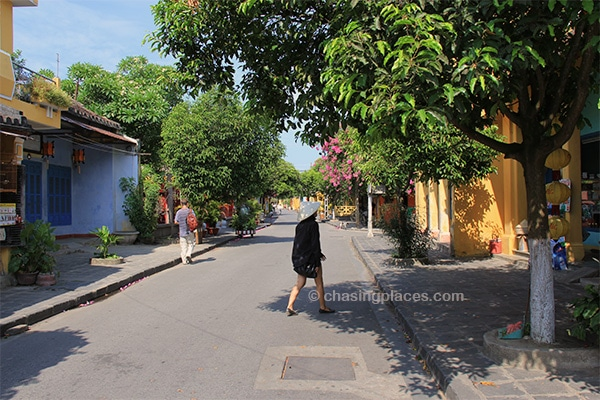 Some of the streets making up the Old Town in Hanoi are ideal for taking a quiet stroll