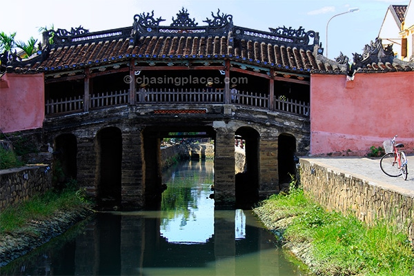 The ancient Bridge in Hoi An's Old Town