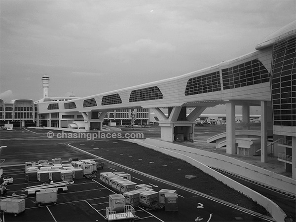The connecting bridge at KLIA2
