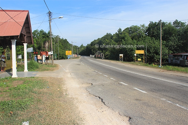 The drop of point to access Cherating Beach
