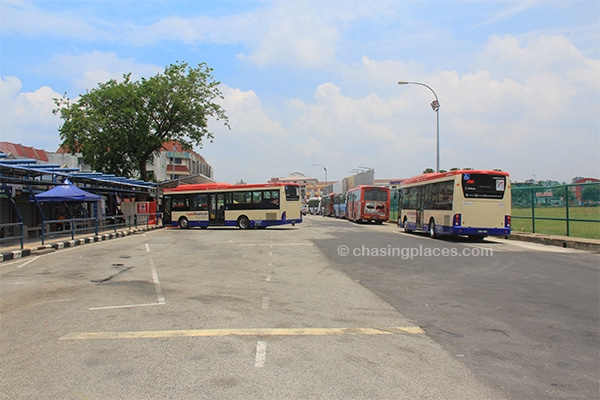 This was the bus terminal in Kuantan where we were told to find a local bus to Cherating. It never arrived.