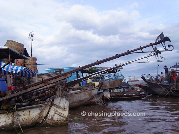 Travel to southern Vietnam to admire the antique motors still presently used on the Mekong