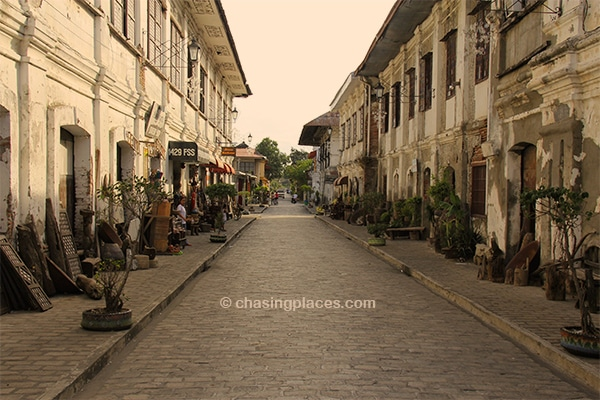 One of thewalking streets in UNESCO listed Vigan in the Philippines