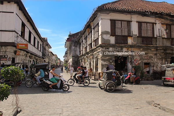The historic quarter of Vigan,-Philippines