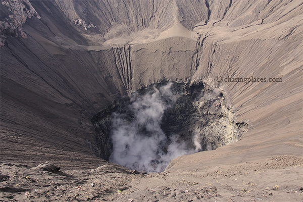 The mouth of Mount Bromo