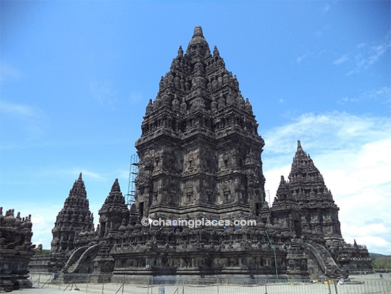One of the massive temples in Prambanan temple complex