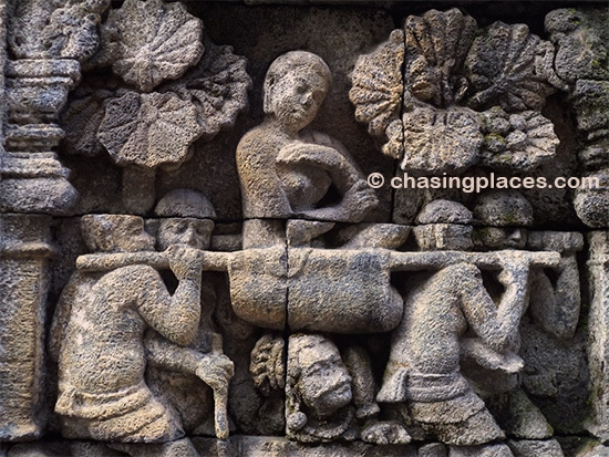 The intricate designs at Borobudur are simply astounding.
