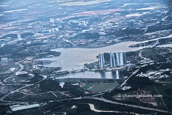 An aerial view of Putrajaya: 15-minutes before-landing at KLIA.