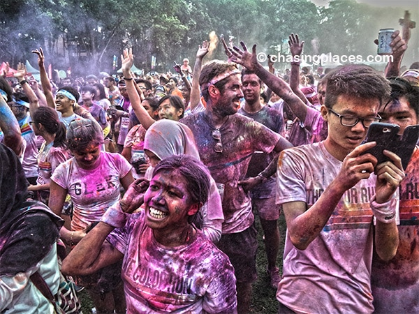 It was exhilarating dancing alongside thousands of people after the run.