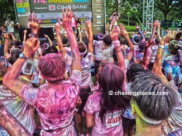 Jumping to the beats at the Color Run