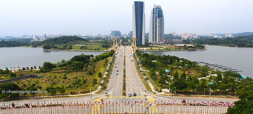 The view of Putrajaya from the Convention Center