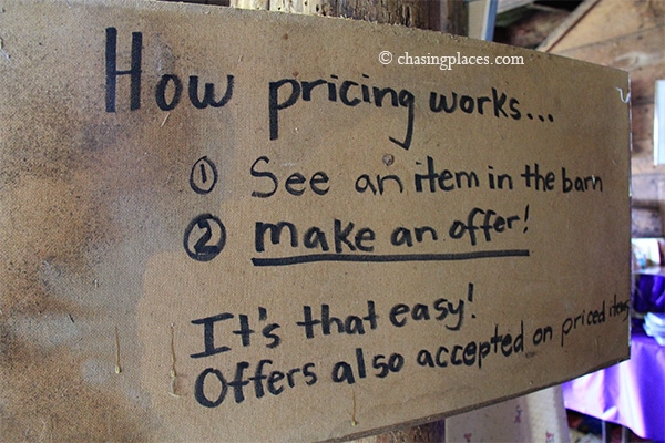 The bargaining rules for the flea market sound pretty straightforward